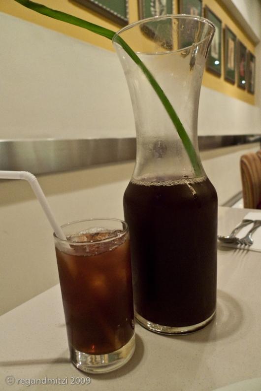 carafe of pandan iced tea