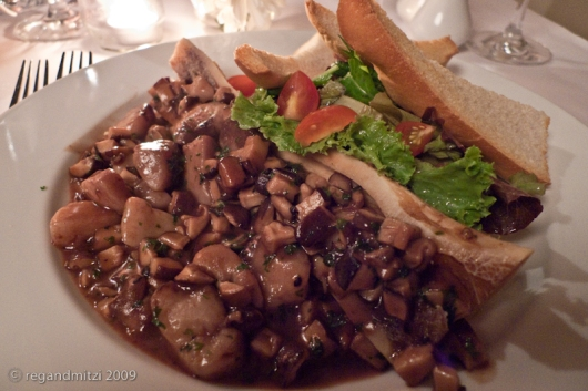 roasted bone marrow with mushrooms